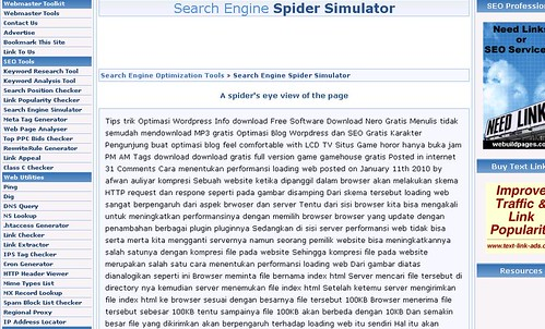 search engine spider result picture