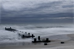 Day one at Cape May (ttsweet) Tags: ocean nature water capemay stormclouds tonysweet