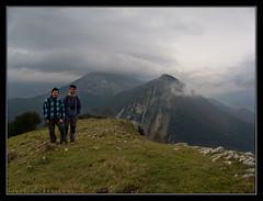 En la cima de Oskia o Bizkai (824 m.)