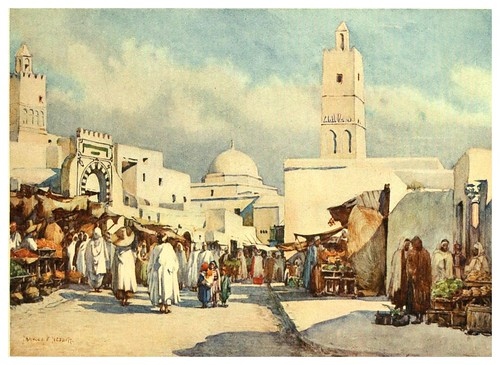 018-La gran avenida de Kairouan-Algeria and Tunis (1906)-Frances E. Nesbitt
