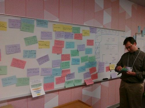 The suggestion board on Day 1