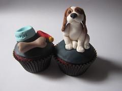 dog cupcakes bowl cupcake bone collar montrealsclevercupcakes