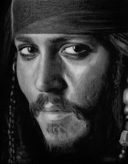 Johnny Deep pencil portrait (Uriolus) Tags: portrait art pencil cara deep lapiz sparrow pirate johnny dibujo rostro figurative dibuix pirata realism oriol caribe llapis arumi