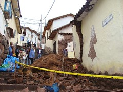 Colonial-era buildings in the historic center of Cusco risk collapse