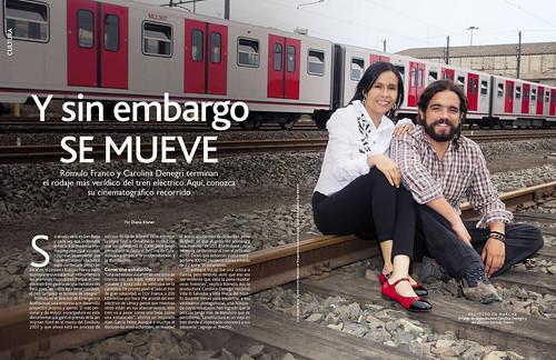 """""""Un tren llamado Perú"""", en Caras"""