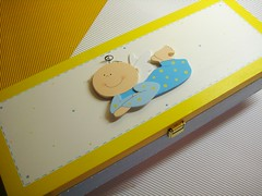 D64 (Ideias com Cores) Tags: azul batizado amarelo caixa menino baptizado anjinho lembranças recordações ideiascomcores