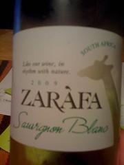 2009 Zarafa Sauvignon Blanc