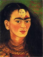 Frida Kahlo - Self-portrait: Diego y yo {Diego & I} (1949)