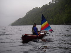 Rivers and lochs of the Scottish Highlands. Try sailing your canoe.