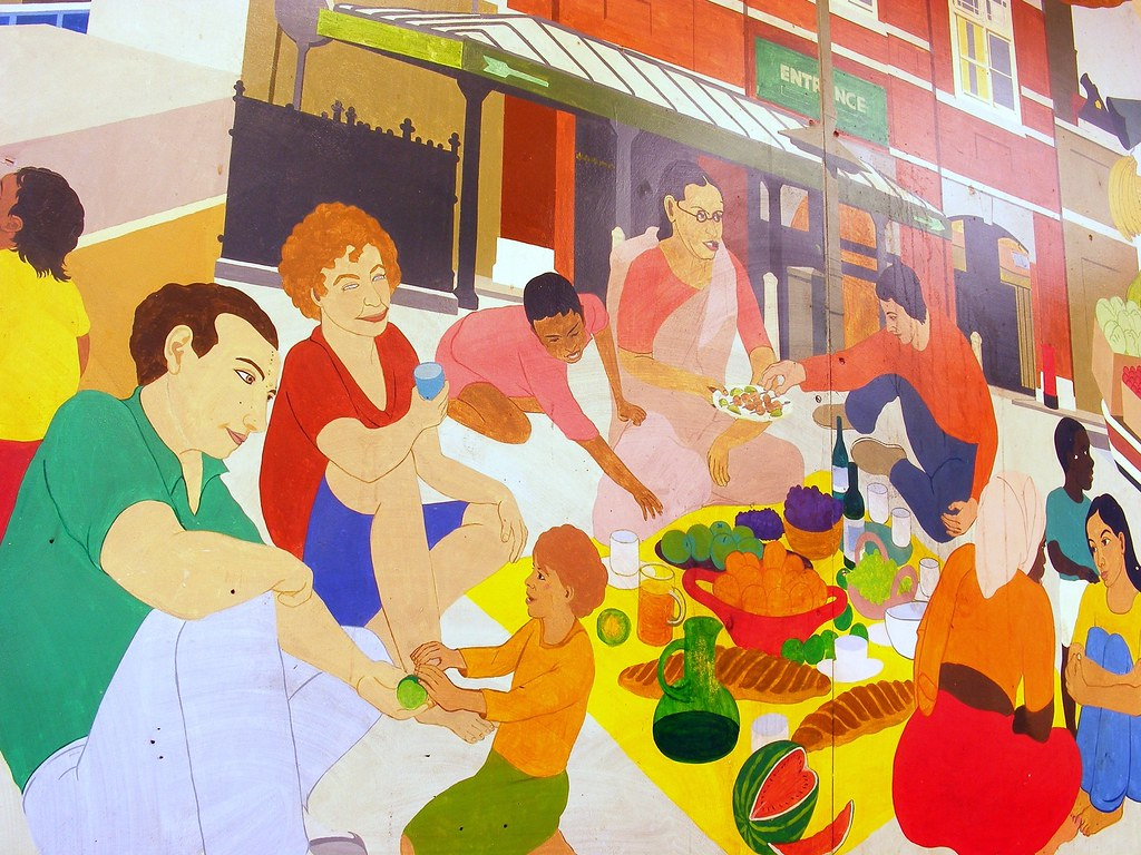 Tramshed mural