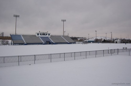 The football field at La Vergne High School