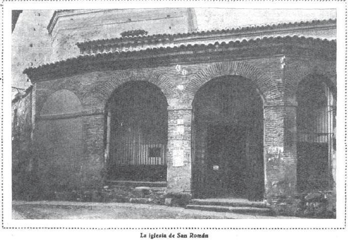 Iglesia de San Román en 1930. Foto de Wolch para Mundo Gráfico