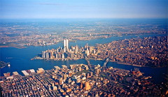 New York City / September, 1998 (steveartist) Tags: newyorkcity worldtradecenter 1998 urbanlandscape analogphotos windowseatphotos photosfromtheairapsphotos
