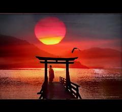 Meditation Red Sun