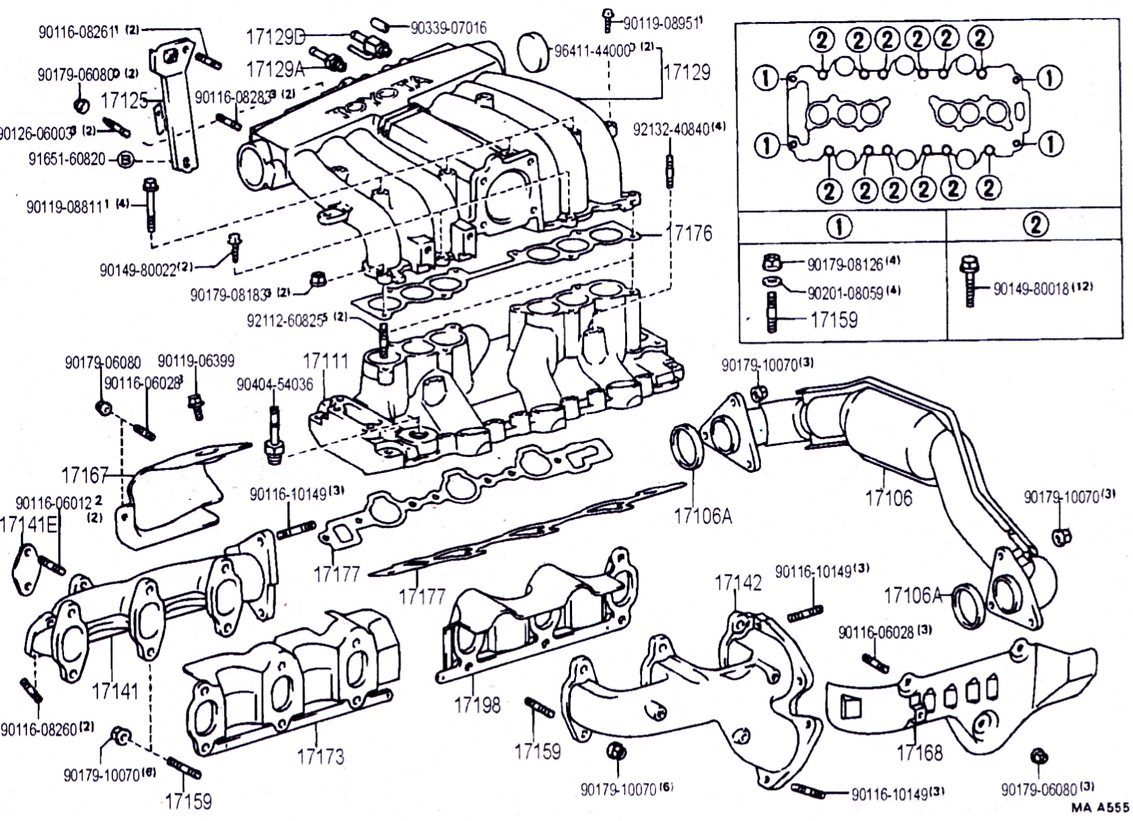 3vz intake manifold hoses and upper injection diagrams yotatech rh yotatech com gsr intake manifold diagram inlet manifold diagram