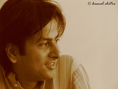 Kau Posing.. (Learning to Click..) Tags: boy man smile sepia pose hair eyes indian handsome posing hunk potrait
