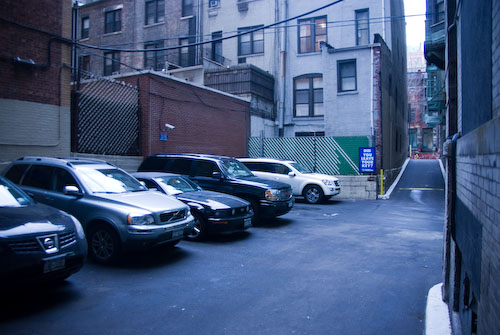 Parking lot in NYC