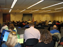 Indiana job forum attendees