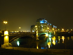 Victoria Bridge at night. (paul downing) Tags: longexposure canon lighttrails victoriabridge stocktonontees studentaccomodation top20longexposure sooc pd1001 sx10is pauldowning