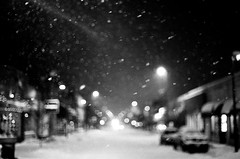 . (Ansel Olson) Tags: street light sky snow film night virginia nikon fuji dof bokeh richmond neighborhood 1600 va neopan f3 50mmf14 rva carytown