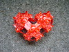 Red Polkadot Ribbon Heart