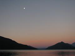 Atardecer en lago Puelo