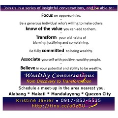 Wealthy Conversations II (Coach Kristine) Tags: conversation wealthy abundance financialfreedom
