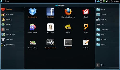 Jolicloud Desktop