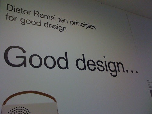 Dieter Ram's 10 design principles...