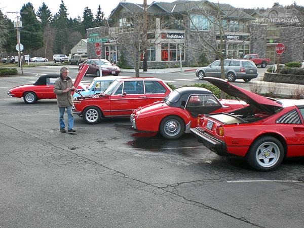 Alfa Duetto, Austin Mini, BMW 2002, Triumph TR3, Ferrari 308