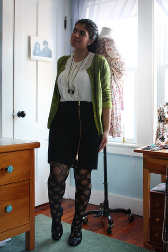 Green snake cardi
