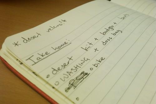 I make lists