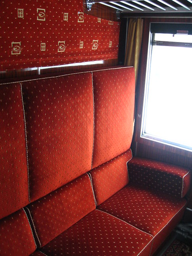 European heritage train for charters - classic sleeper compartment, day use
