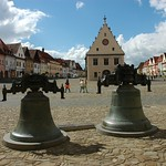 Bardejov: Original bells with historic Town Hall and square