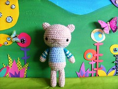 tommy teddy (rosie.ok) Tags: bear animal kids fun sweater doll play teddy handmade crochet craft crafty dolly amigurumi artisan rosieok