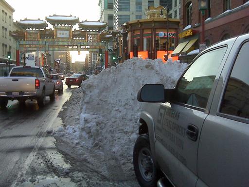 DC's snowy roads