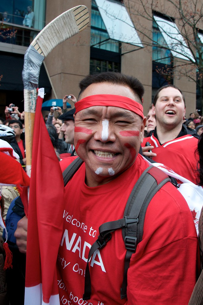 "This gentleman: ""Welcome to Canada Party On!"""