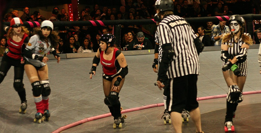 awesome day of the dead referee for punk rock alternative roller derby skaters