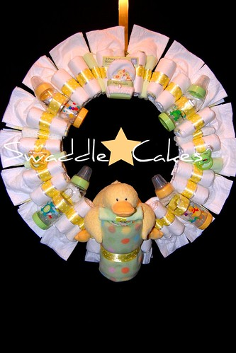 Just Ducky Diaper Wreath