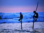QU002046 (Seegiri) Tags: 2 asia asians boys fishers fishing fishingequipment fishingline holding indianocean males marinescenes occupationsandwork ocean people southasians southernprovince srilanka srilankans stick surf teenager travel water waves weligama
