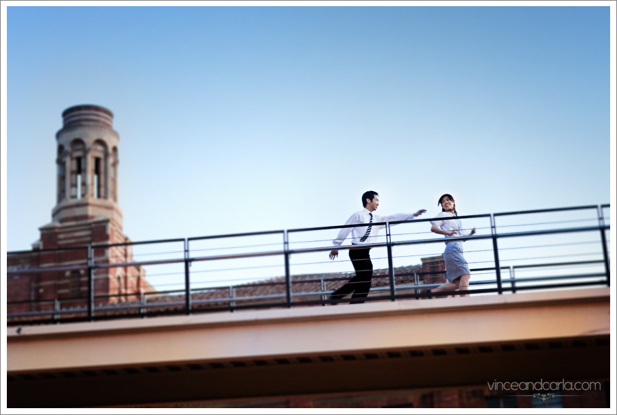 Chase UCLA University of California Los Angeles USC Bridge Brick Wall Royce Hall Parking e-session engagement session photos photo photography wedding