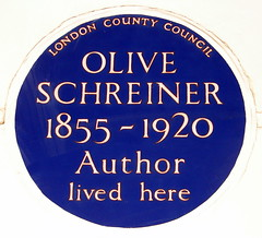 Photo of Olive Schreiner blue plaque