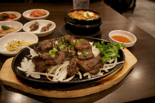Barbecued Galbi at Don's Bogam in Koreatown
