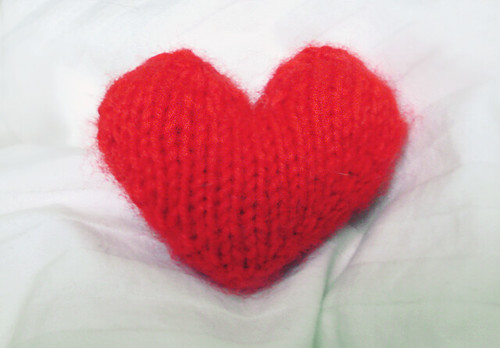 KNITTING PATTERNS HEART   Free Patterns