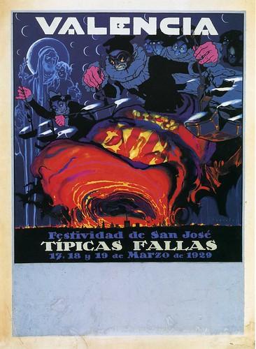 Un cartel de las Fallas de 1929