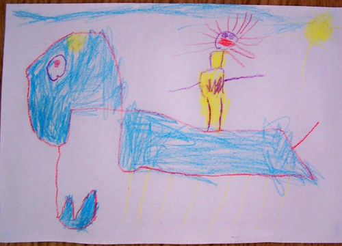 Me riding an Elephant Snake! by Mollimoo1.