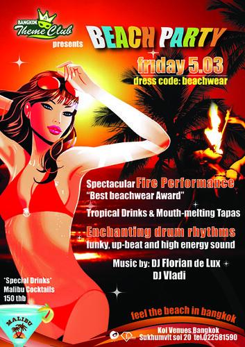 Theme Club: Beach Party and Florian's Bday Party @ Koi, Fri 05.03.2010