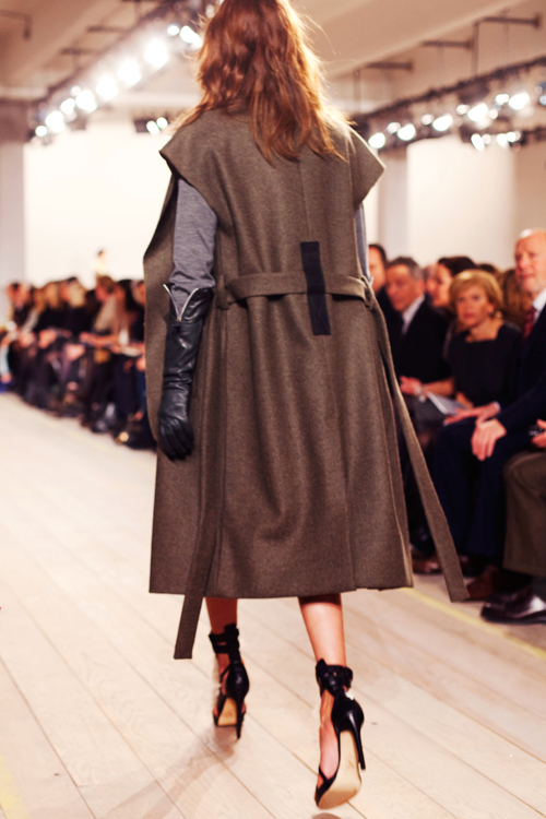 "fashion ""The Sartorialist"" ""Designer Reed Krakoff"" ""sleeveless coat"" ""fall 2010 runway"""