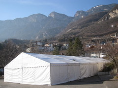 Fat Tuesday celebration tents in Suditrol area (soosiday) Tags: vineyards northernitaly cortaccia egna suditrol cortaccialeos1stweek
