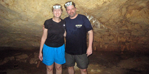 Kris and J.D. inside the Cave